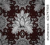 vector white pattern. seamless... | Shutterstock .eps vector #626797505