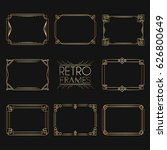 Gold Retro Frames. Style Of...