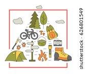 outdoor travel icons in...   Shutterstock .eps vector #626801549