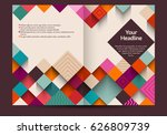 brochure template  colorful... | Shutterstock .eps vector #626809739