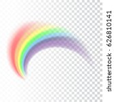 rainbow icon. shape arch... | Shutterstock .eps vector #626810141