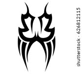 tattoo sketch tribal vector... | Shutterstock .eps vector #626812115