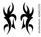 tribal tattoo art designs.... | Shutterstock .eps vector #626812151