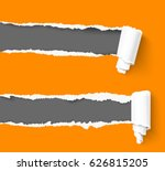 two orange hole in paper with a ... | Shutterstock .eps vector #626815205