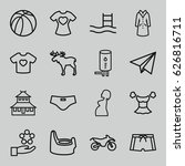 sketch icons set. set of 16... | Shutterstock .eps vector #626816711