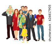 big family vector illustration... | Shutterstock .eps vector #626817905