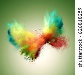 explosion of colored powder in... | Shutterstock . vector #626818259