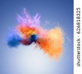 amazing explosion of orange and ... | Shutterstock . vector #626818325