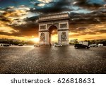 beautiful cloudy sunset over... | Shutterstock . vector #626818631