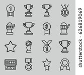 prize icons set. set of 16... | Shutterstock .eps vector #626819069