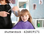 cute little girl in... | Shutterstock . vector #626819171