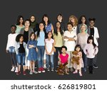 group of diverse ethnic people  | Shutterstock . vector #626819801