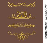 collection of vector dividers... | Shutterstock .eps vector #626820299