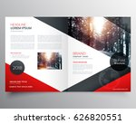 creative red and black bifold... | Shutterstock .eps vector #626820551