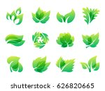 green leaf eco design friendly... | Shutterstock .eps vector #626820665