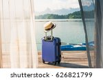 time to relax  suitcase... | Shutterstock . vector #626821799
