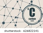 carbon chemical element. sign... | Shutterstock .eps vector #626822141