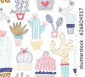 vector floral seamless pattern...   Shutterstock .eps vector #626824517