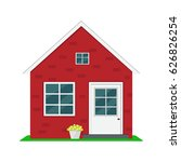 house illustration. | Shutterstock .eps vector #626826254