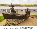 sculpture on embankment of don... | Shutterstock . vector #626827805