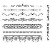 set of vintage borders and... | Shutterstock .eps vector #626828105
