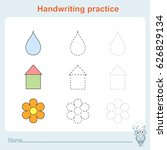 handwriting practice  games...   Shutterstock .eps vector #626829134