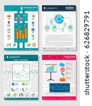 business template infographic... | Shutterstock .eps vector #626829791