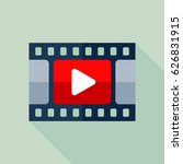 video icon. flat vector icon... | Shutterstock .eps vector #626831915