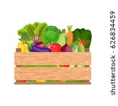 healthy freshly harvested... | Shutterstock . vector #626834459