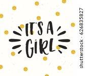 cute colored vector invitation... | Shutterstock .eps vector #626835827