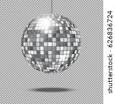 mirror glitter disco ball... | Shutterstock .eps vector #626836724