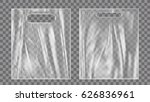 blank plastic bag mock up.... | Shutterstock .eps vector #626836961