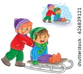 vector winter illustration two... | Shutterstock .eps vector #626839121