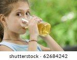 portrait of nice little girl...   Shutterstock . vector #62684242