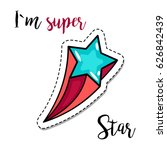 fashion patch element with... | Shutterstock .eps vector #626842439