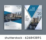 abstract a4 brochure cover... | Shutterstock .eps vector #626843891