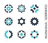 vector gear wheel icons and... | Shutterstock .eps vector #626846411