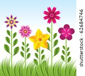 abstract flower background with ... | Shutterstock .eps vector #62684746