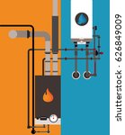central heating with gas | Shutterstock .eps vector #626849009