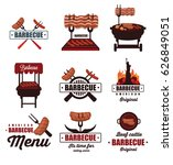barbecue icons | Shutterstock .eps vector #626849051