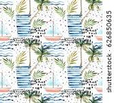 abstract summer seamless... | Shutterstock . vector #626850635
