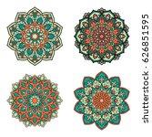 set of mandalas. ethnic... | Shutterstock .eps vector #626851595