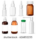set of medical containers on... | Shutterstock .eps vector #626852255