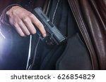 police officer is grabbing for... | Shutterstock . vector #626854829