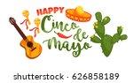 cinco de mayo. vector... | Shutterstock .eps vector #626858189