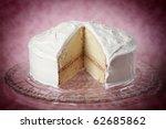 Nice White Vanilla Cake With A...