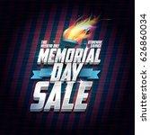 memorial day sale design ... | Shutterstock .eps vector #626860034
