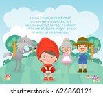 little red riding hood ...   Shutterstock .eps vector #626860121
