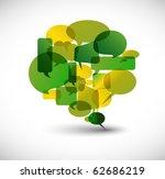 big green speech bubble made... | Shutterstock .eps vector #62686219