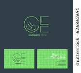 g e letters logo with business...   Shutterstock .eps vector #626862695
